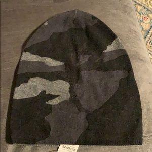 NWT Gray Cashmere Camo Print Hat